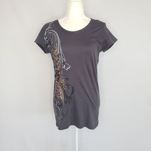 Harley Davidson Gray Short Sleeve Tee Top Medium